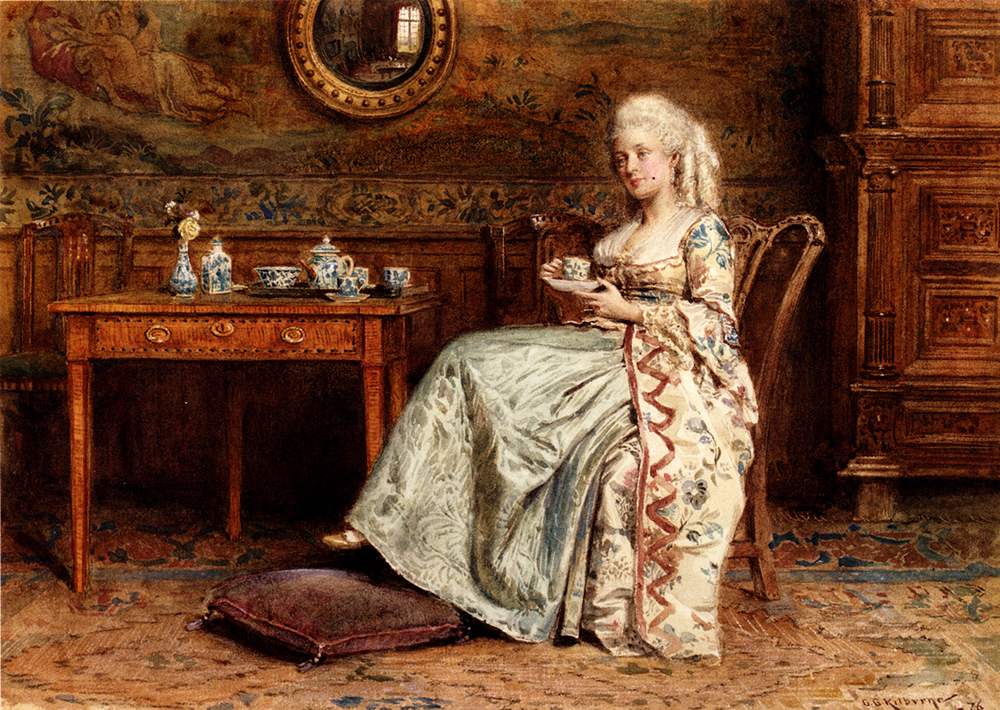 Taking Tea, George Goodwin Kilburne, 1876