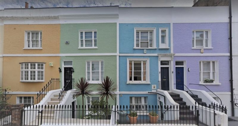 Casas de colores en Earls Court