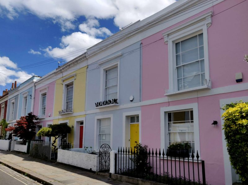 Casas de colores en Kentish Town, Londres